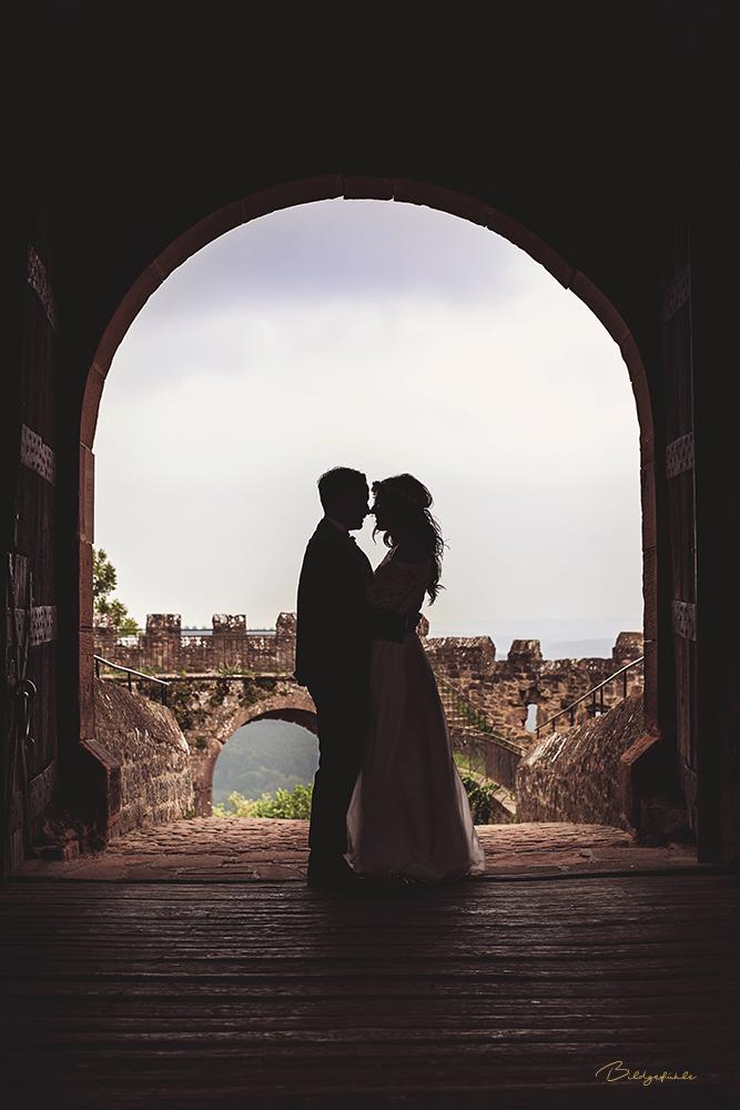 Brautpaar Torbogen